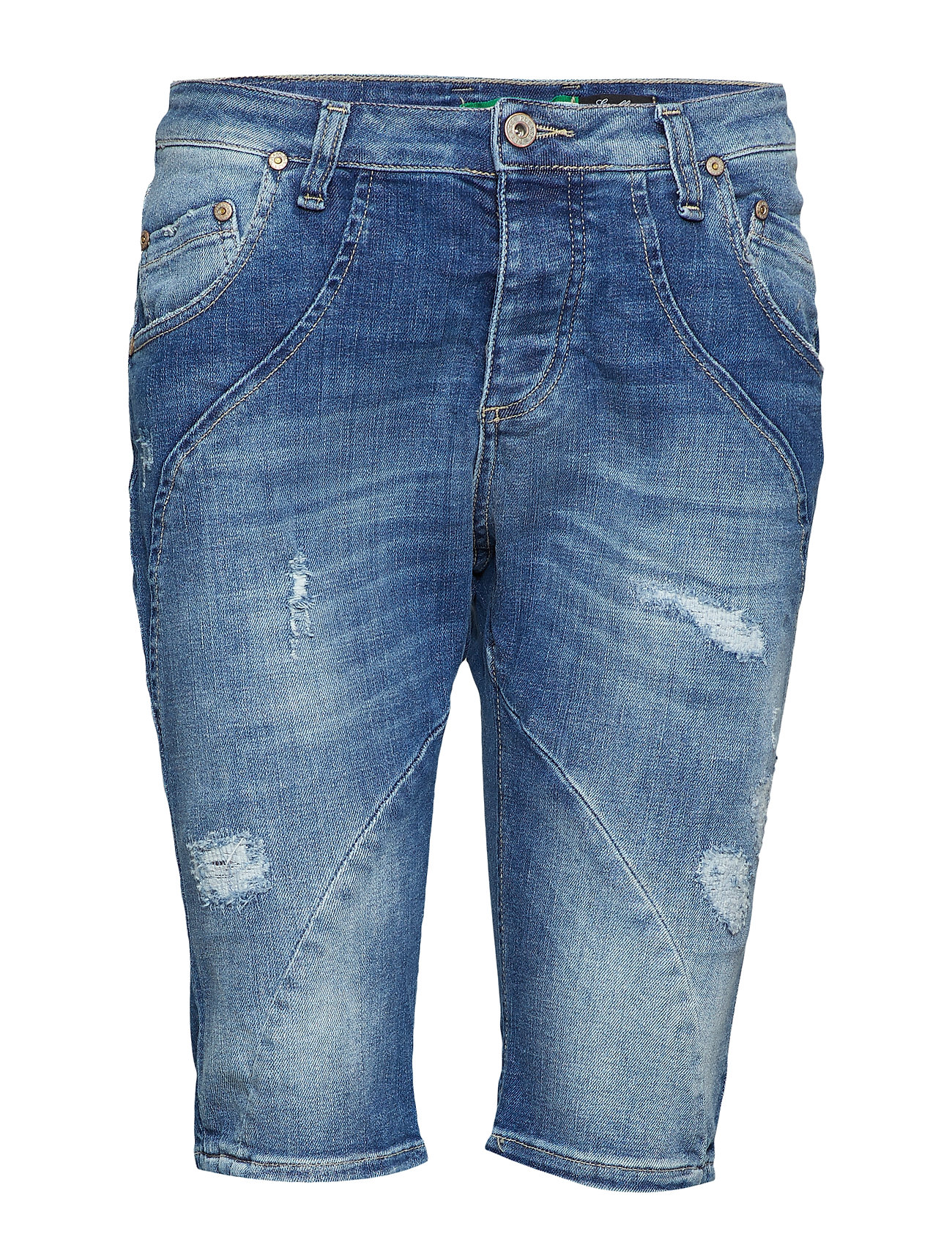 a61b095b Please jeans Pirat Denim Stretch Bermudashorts Blå. - GITTEK