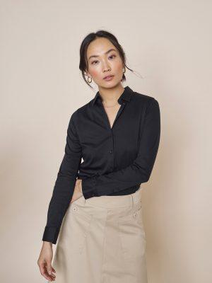 Tina Jersey shirt - Mos mosh - sort