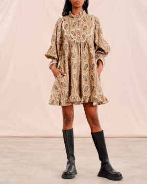 Baby Cord Shift Dress – Paisley - By Timo