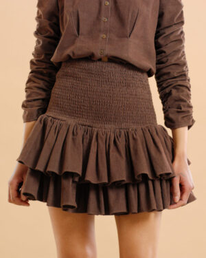 Baby Cord Skirt – Brown - By Timo