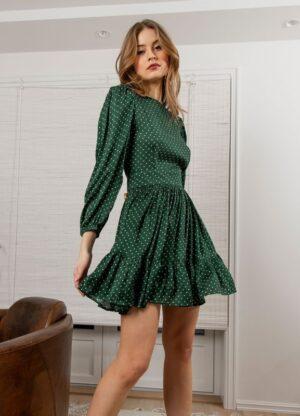 MISSMAYA ROSIE DRESS BOTTLEGREEN